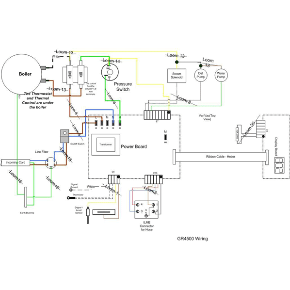 wiring diagram gr4500 matrix steam cleaner septimus spares