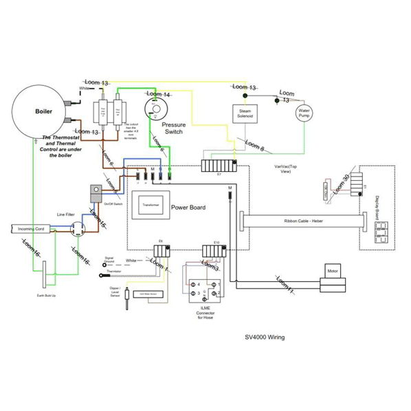wiring diagram sv4 matrix dry steam cleaner septimus spares rh septimus spares co uk Hotsy Pressure Washer Parts Diagram Car Pressure Washer Diagram