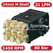 47 Series Pump 21Lpm 80Bar 24mm M Shaft